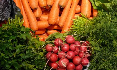 groenten in supermarkt